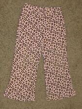 Euc Gymboree Kitty Glamour Pink Leopard Knit Pants Size 4