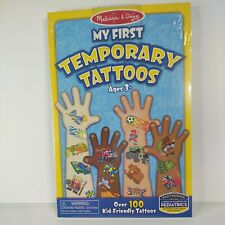 MELISSA & DOUG My First Temporary Tattoos Boys Over 100 Tattoos Ages 3+