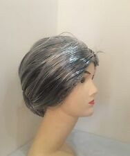 GRANDMA WIG Grey Hair Old Lady Granny Fancy Dress Costume Party Grand Mother New