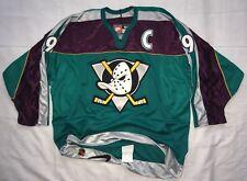 Vintage Anaheim Mighty Ducks Paul Kariya #9 Green AUTHENTIC Nike Jersey Size 54