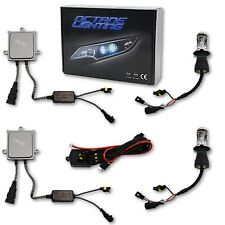 "7"" 6K 6000k 50w Super White Hi/Low H4 HID Light Bulbs Bi-Xenon Headlight Kit"