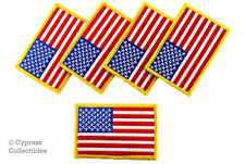 New listing Lot Of 5 American Flag iron-on Biker Patch Motorcycle Usa embroidered Us Patches