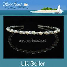Wedding Freshwater Pearl Headband / Tiara, Bridal / Bridesmaid by Pearl Island