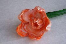 Mesa De Vidrio Naranja POPPY@Flower Gift@Unique Keepsake@Stunning decoration@Favour