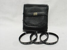 HOYA 55mm close-up filter set  +1 +2 +4 with protective case