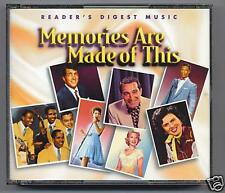 READERS DIGEST -  MEMORIES ARE MADE OF THIS- MINT 4 CDS
