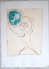 F.Dumayet gravure Le monde c'est par là signée et  datée 1992 P 943