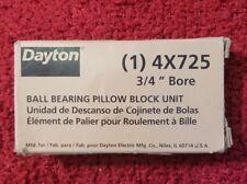 DAYTON 4X725 Pillow Block Bearing, 3/4 In. Bore