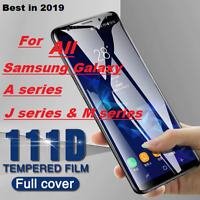 For Samsung Galaxy ALL J4 J6 A4 A10 A6 M30 Screen Protector 111D Tempered Glass