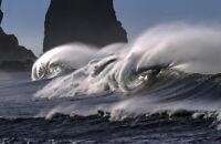 "Waves, Pacific Ocean Photograph Art Print 11"" x 17"""