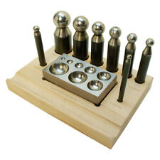 Wood doming dapping punches set x24 wooden forming tool shaping jeweller 11-24mm