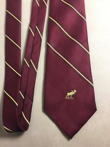 Vintage MOOSE LODGE NECKTIE Officer's Membership Achievement Award Neck Tie