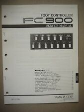 Yamaha Foot Controller FC900 Service Manual