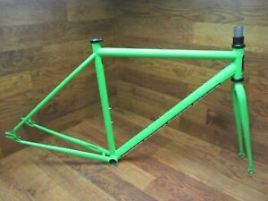 SWOBO ACCOMPLICE CROMOLY STEEL SINGLE SPEED FRAME SET SIGNAL GREEN SMALL