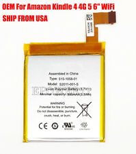 "OEM Battery For Amazon Kindle 4 4G 5 6"" WiFi D01100 S2011-001-S  515-1058-01 USA"