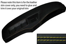 YELLOW STITCH DASH DASHBOARD LEATHER SKIN COVER FITS BMW 5 SERIES E28 1981-1987