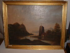 ANTIQUE OIL PAINTING  SCOTTISH ENGLISH CASTLE UNSIGNED OLD MASTER POSSIBLY KELLY