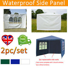 More details for 2pc 3m canopy gazebo marquee tent replacement exchangeable side walls panels