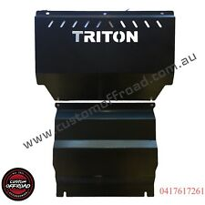 Mitsubishi Triton ML-MN - 3mm Mild/Raw Steel, 2pce Bash Plate Set