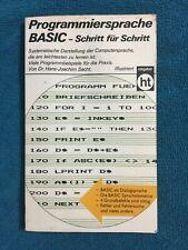 Fachliteratur Programmiersprache BASIC - Schritt für Schritt - Humboldt Verlag