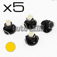 5 Yellow SMD LED T3 Neo Wedge 12v Interior LED Bulb