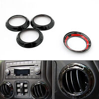 4x Black Air Condition Vent Outlet Ring Cover Trim For Wrangler 07-16 C BU