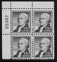US Scott #1053, Plate Block #25367 1956 Graham Bell $5 FVF MNH Upper Left