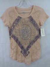 Style & Co Petites Women's Pink Paisley Graphic T Shirt Size PP NWT
