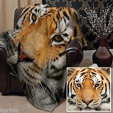Tête de tigre design Doux Couverture polaire Housse couvre-lit Canapé lit