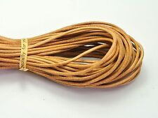 32.8 Feet Natural Color Round Real Genuine Leather Jewelry Cord String 2mm
