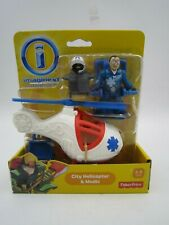 Fisher Price Imaginext City Helicopter & Medic Action Figure Mattel NEW