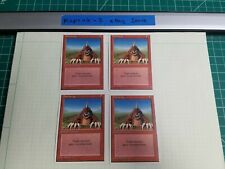 4x Burrowing   4th Edition   MTG Magic The Gathering Cards