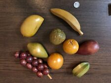 Decorative Fruit (Wooden), Set of 9 (Vintage mid 20th Century)