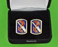 U.S. Army 198th Infantry Brigade Cuff Links & Gift Box Cufflinks
