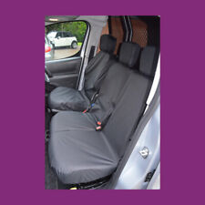 PEUGEOT PARTNER TAILORED WATERPROOF SINGLE DRIVERS SEAT COVER 2017  BLACK 394