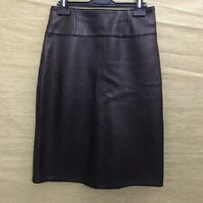 LAKELAND Ladies Brown Butter Soft Leather Pencil Skirt UK 8