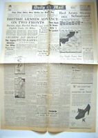 Repro Wartime Newspaper ~ DAILY MAIL ~ WWII ~ 1940'S ~ May 10th 1944