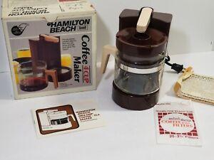 Vintage Hamilton Beach Mini-Drip Coffee & Tea Maker 4 Cup Model 784 Made in U.S.