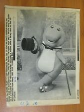 Vtg AP Wire Press Photo Barney The Song and Dance Dinosaur in Texas 12/18/92