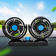 NEW 12V 360° Car Vehicle Cool Cooling Air Fan Silent 2 Speed Cooler Adjustable