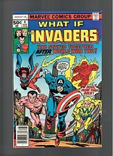 WHAT IF # 4   ( 1977 )    INVADERS!  MARVEL COMICS   SHARP COPY!