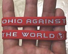 NEW Ohio State Buckeyes OHIO AGAINST THE WORLD Wristband OSU Buckeye Bracelet