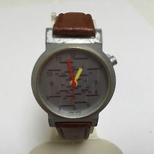Vintage Out Of Time Lady Silver Tone Analog Quartz Watch Hours~New Band Battery