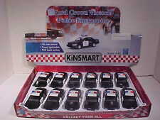 12 Pack Police Ford Crown Victoria Interceptor Die-cast Car 1:42 Kinsmart 5 inch