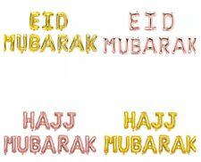 """UMRAH+HAJJ+EID MUBARAK 16"""" Foil Letter Balloon Gold/RoseGold. UK SELLER"""
