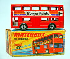 """Matchbox SF Nr.17B The Londoner rot """"Berger Paints"""" in Box"""