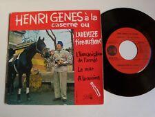 """HENRI GENES à la caserne : L'humanisation de l'armée 7"""" EP Pathé 45 EA 314"""