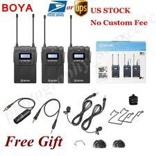 US BOYA BY-WM8 UHF PRO-K2 2 Channel Wireless Micophone System for ENG EFP DSLR