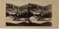 Germania Baden-Baden Foto Stereo PL52n Vintage Albumina c1860