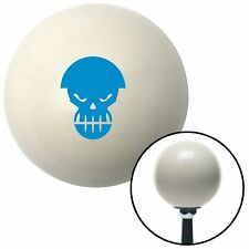 Blue Scary Skull Ivory Shift Knob with 16mm x 1.5 Insert road king apu sportsman